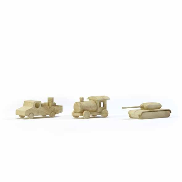 3DOcean Wooden toys 3545287