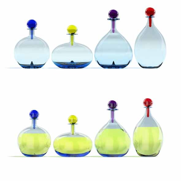 Glass containers - 3DOcean Item for Sale