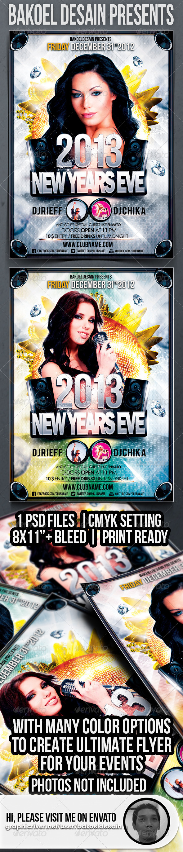 GraphicRiver New Years Eve 2013 Party Flyer 3545382