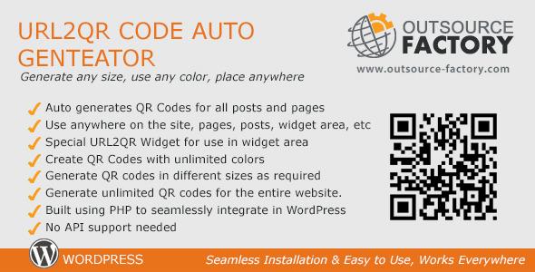 CodeCanyon URL2QR Code Auto Generator 3545383