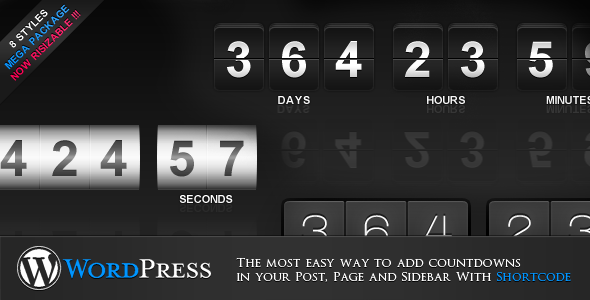 jCountdown Mega Package for WordPress