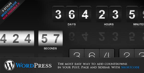 CodeCanyon jCountdown Mega Package for WordPress 3545492