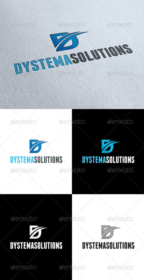 GraphicRiver Dystema Solutions D Letter Logo 3545620