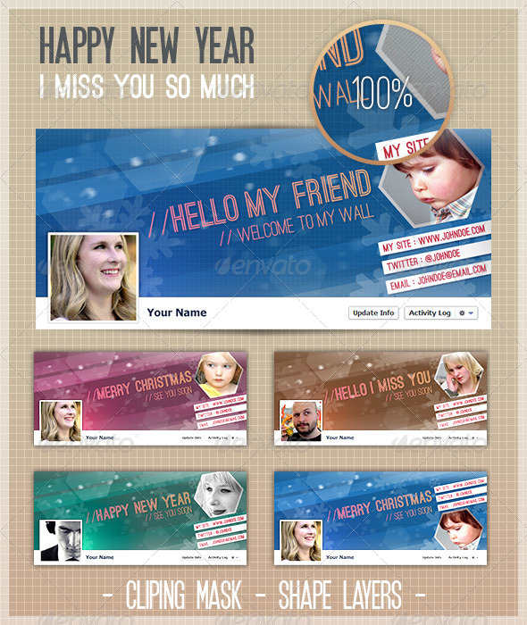 GraphicRiver FB Cover Miss You 3545838