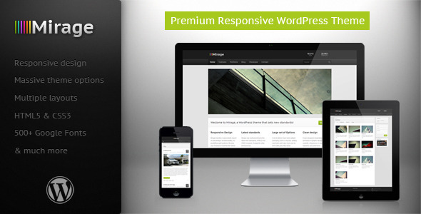 ThemeForest Mirage Premium Responsive WordPress Theme 3531447