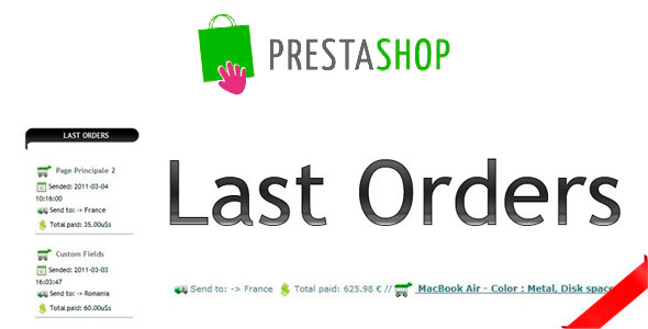 Last Orders Prestashop Module - CodeCanyon Item for Sale