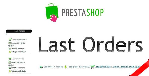 Last Orders Prestashop Module - CodeCanyon Item for Sale