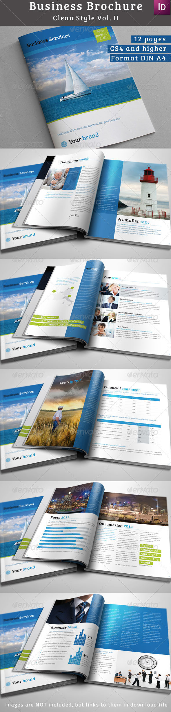 GraphicRiver Clean & Modern Business Brochure 3545873