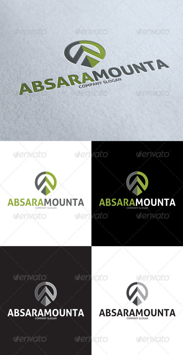 GraphicRiver AbsaraMounta Abstract A Letter Logo 3545917