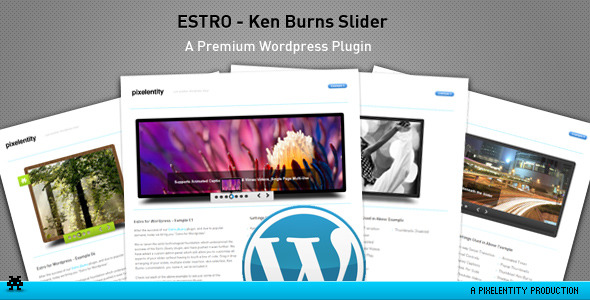 Estro - jQuery Ken Burns curseur - Plugin Wordpress - WorldWideScripts.net objet en vente