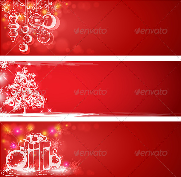 GraphicRiver Red Christmas Background 3546256
