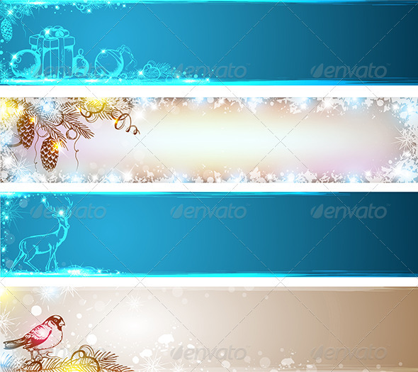 GraphicRiver Christmas Banners 3546299