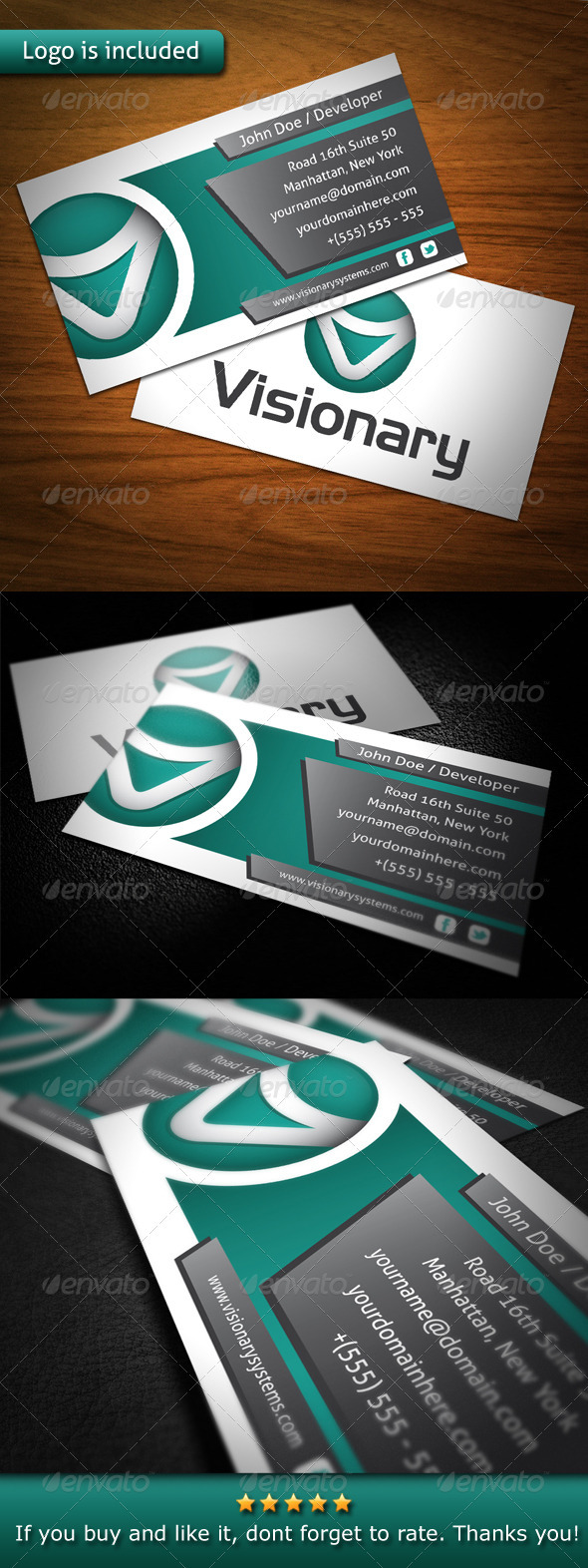 GraphicRiver Visionary Creative Business Card 3546306