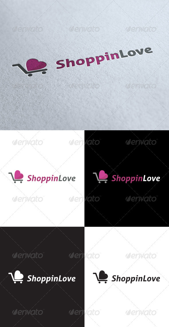 GraphicRiver Love Shoping Logo 3546417