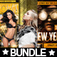 3x New Year Flyer Bundle Vol. 1 - GraphicRiver Item for Sale