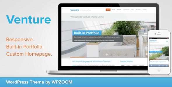 ThemeForest Venture Business & Portfolio WordPress Theme 3547359