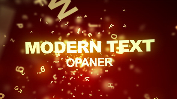 VideoHive Modern Text Opener 3547691