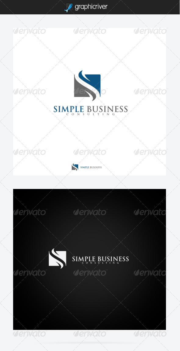 GraphicRiver Simple Business Consulting Logo 3547766