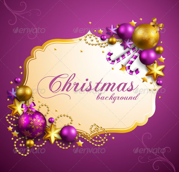 GraphicRiver Christmas Background Vector with Text 3547889
