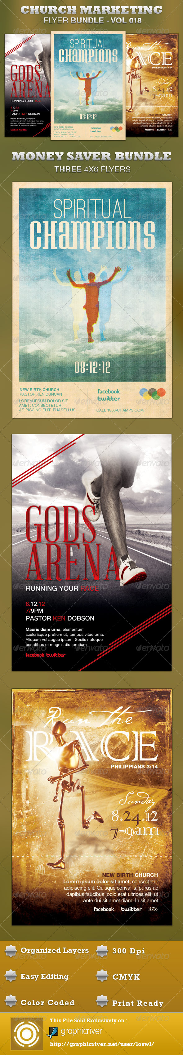 Church Marketing Flyer Bundle-Vol 018 - Church Flyers
