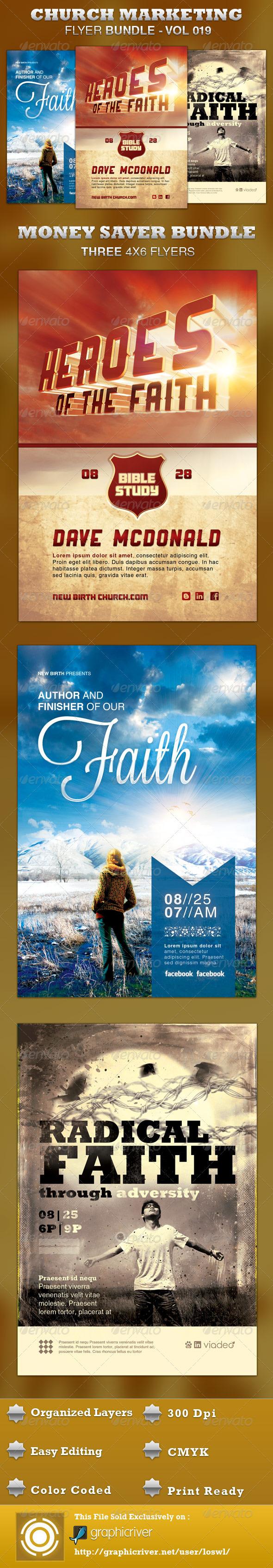 GraphicRiver Church Marketing Flyer Bundle-Vol 019 3548457