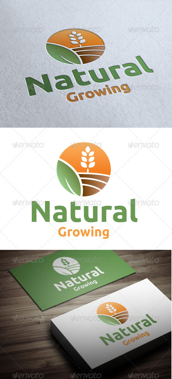Natural Growing - Nature Logo Templates