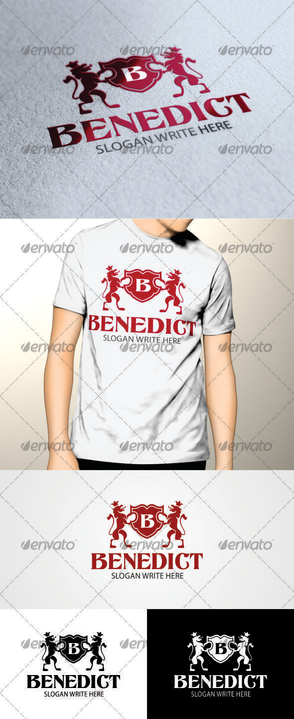 GraphicRiver Benedict Logo Template with all Letters 3516812