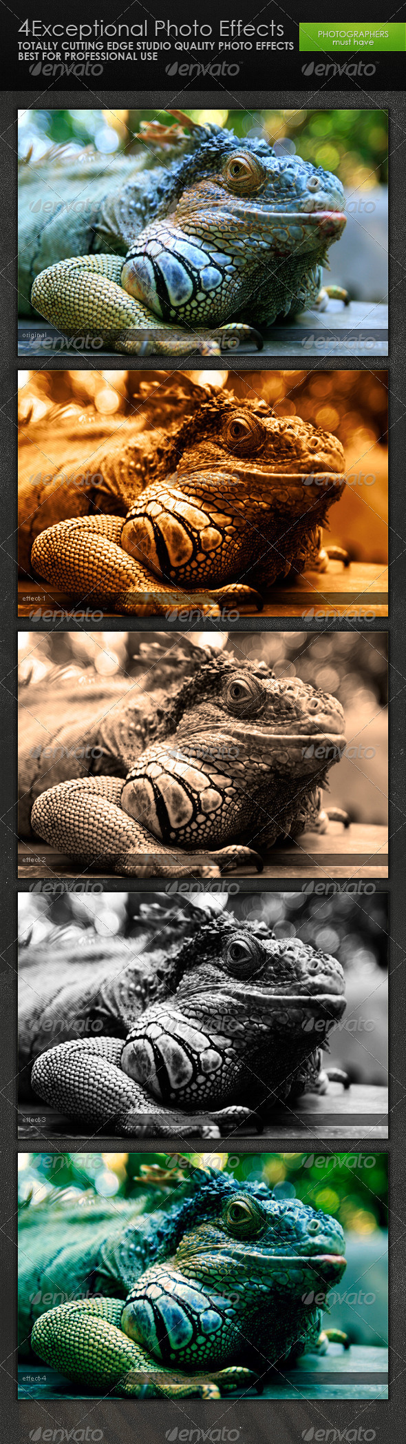 Exceptional Photo Effects - Photo Effects Actions