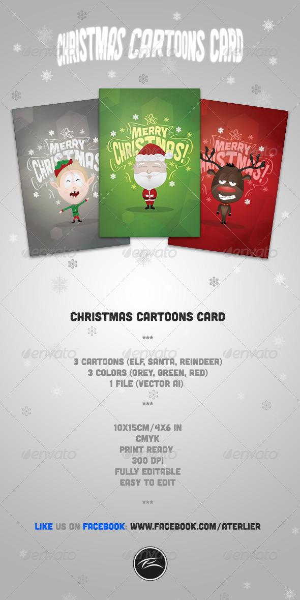 GraphicRiver Christmas Cartoons Card 3516358