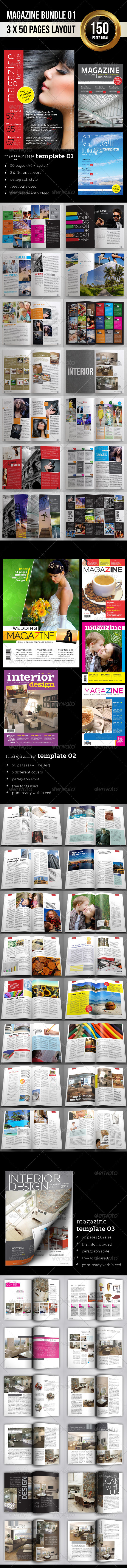 GraphicRiver Magazine Bundle 01 3549004