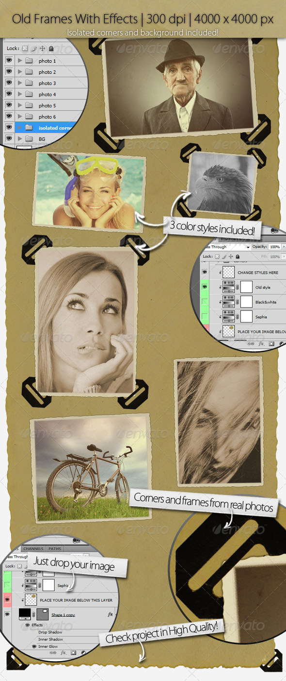 GraphicRiver Old Image Frames With Corners 3549105