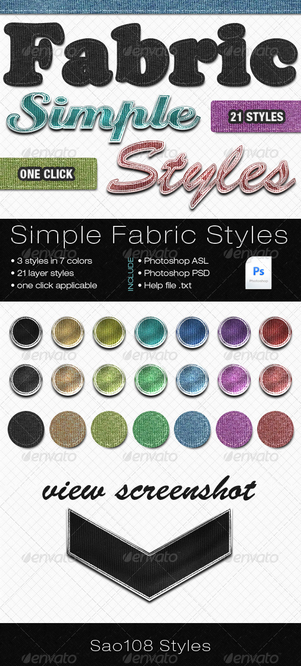 Simple fabric styles - Photoshop Add-ons