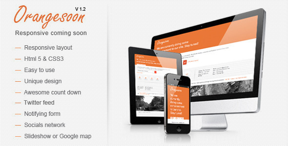 ThemeForest Orangesoon Comingsoon Template 3295326