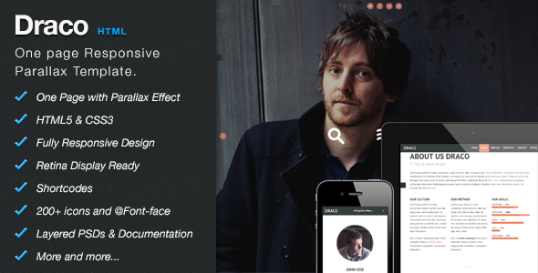 Draco - One Page Responsive Parallax Template