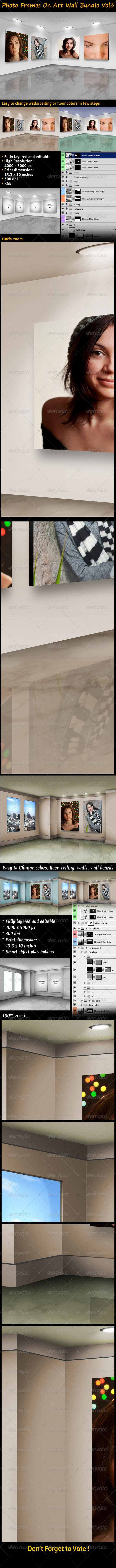 GraphicRiver Photo Frames On Art Wall Bundle Vol3 3549557