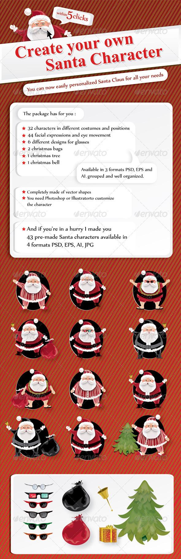 GraphicRiver Santa Claus Mascot 3550632