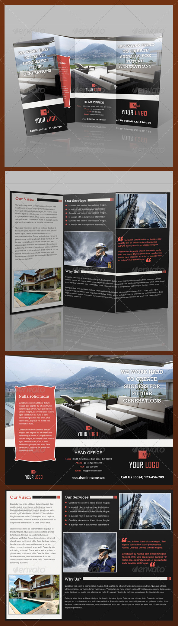 GraphicRiver Real Estate Tri-Fold Brochure 3550646