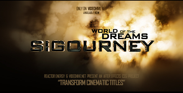 VideoHive Transform Cinematic Titles 3550864