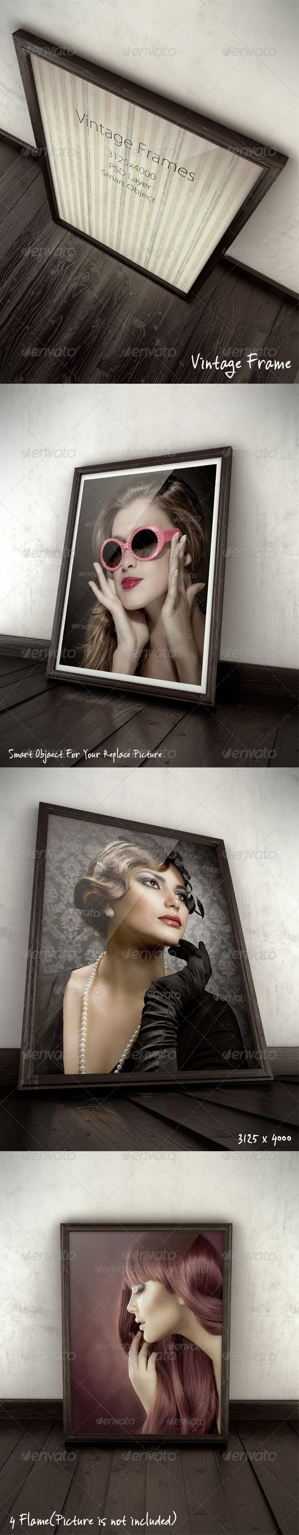 GraphicRiver Vintage Frames Mock-Ups 3550897
