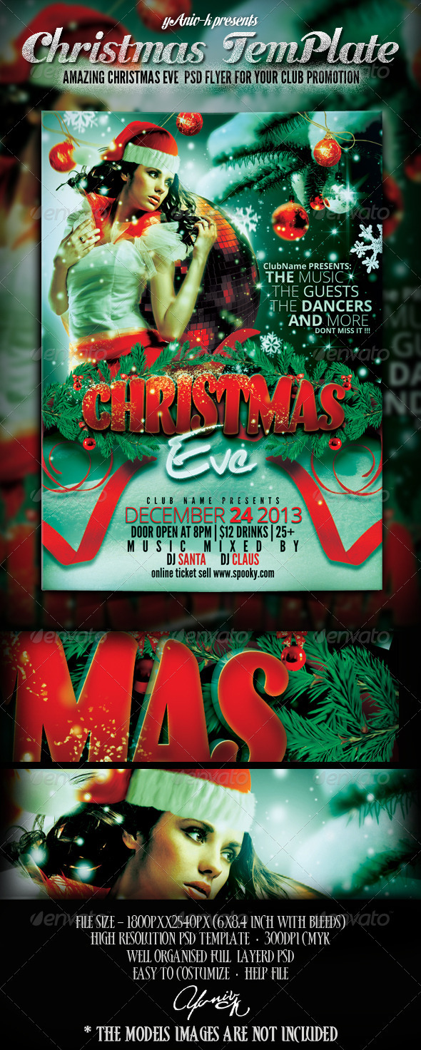 Christmas Eve Flyer Template - Events Flyers