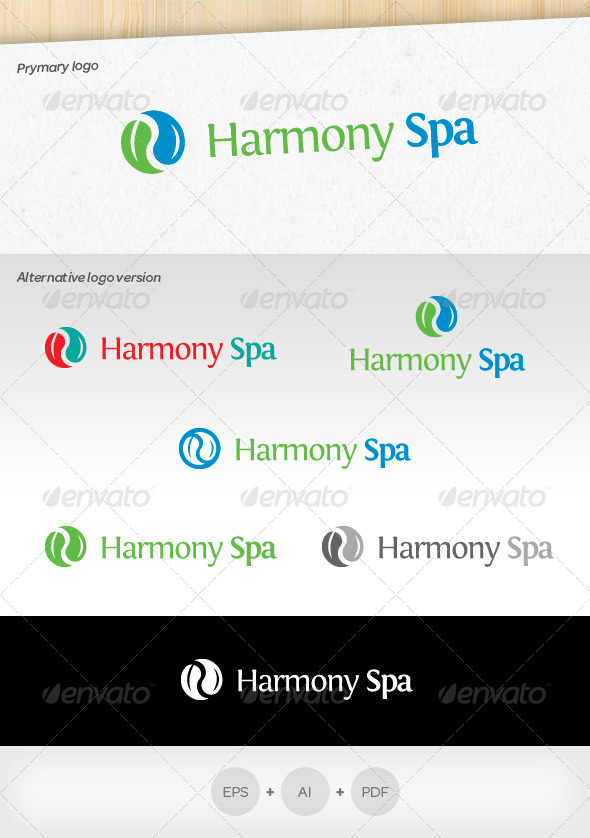 GraphicRiver Harmony Spa Logo 3479786
