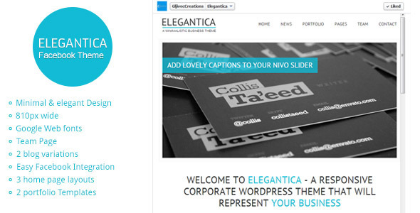 Elegantica Facebook HTML Template - Business Corporate
