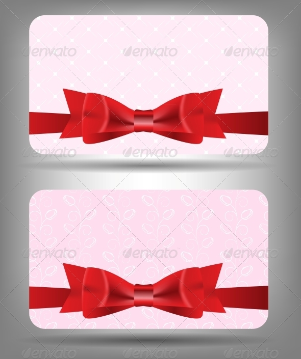 GraphicRiver Card with Bow and Ribbon Vector Illustration 3551552