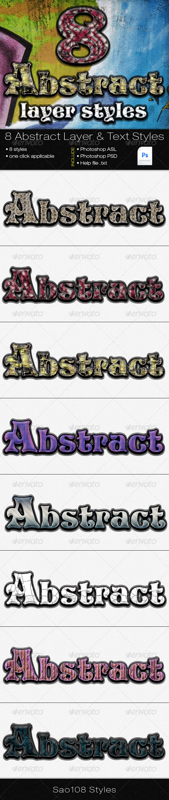 GraphicRiver 8 abstract styles 3551555
