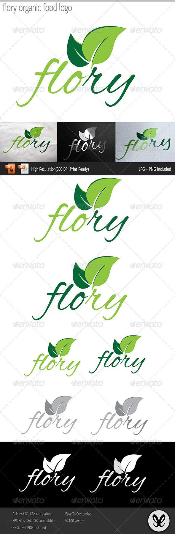 GraphicRiver Flory Organic Food Logo 3551569