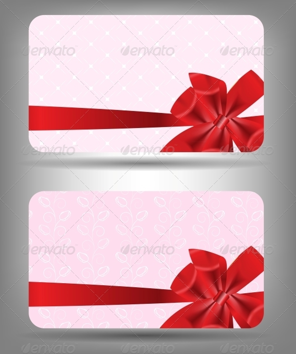 GraphicRiver Card with Bow and Ribbon 3551577