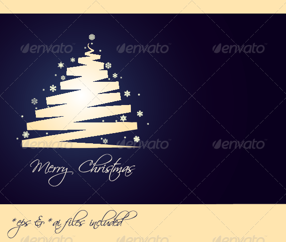 Merry Christmas – Vector Christmas Card