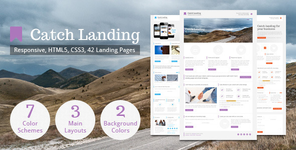 ThemeForest Catch Landing Responsive Landing Page 3089210