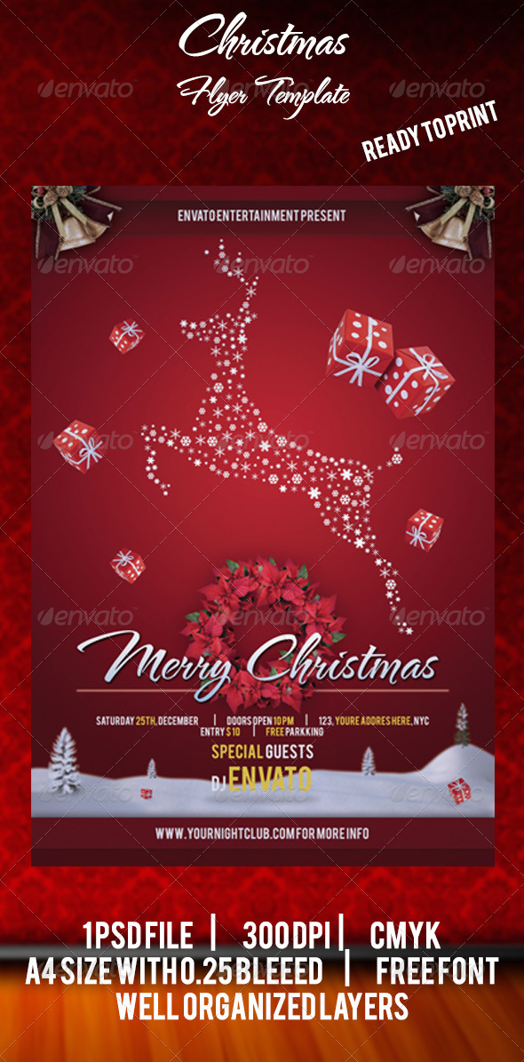 GraphicRiver Christmas Flyer Template 3551769