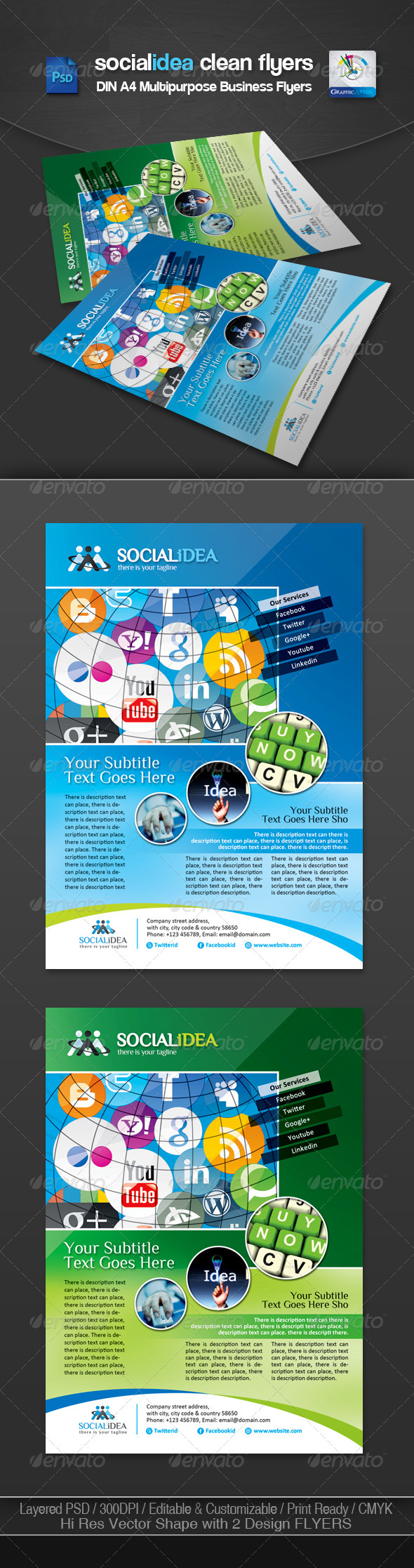 GraphicRiver Socialidea Corporate Social Media Flyer Ads 3551805